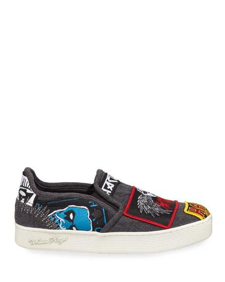 Haculla Men's Rancid Patched Slip-On Sneakers