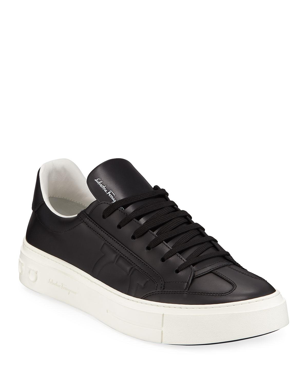 Salvatore Ferragamo Men s Borg Leather Low-Top Sneakers 7ccc25892