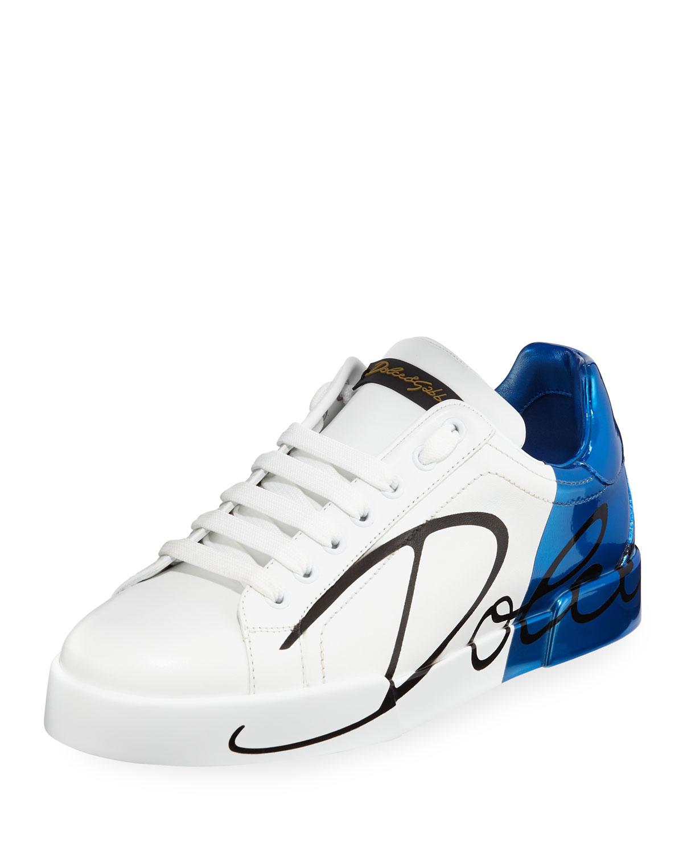 fc057d4d65e Dolce   Gabbana Men s Portofino Two-Tone Leather Sneakers