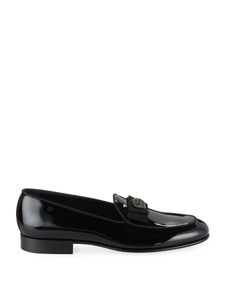 Dolce & Gabbana Men's Patent Leather Crown-Applique Loafer