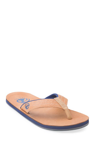 Hari Mari x Nokona Men's Leather Thong Sandals, Honey