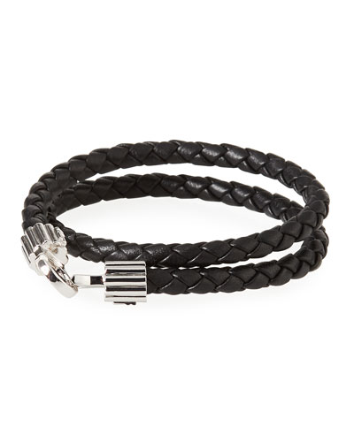 Men's Braided Napa Leather Bracelet