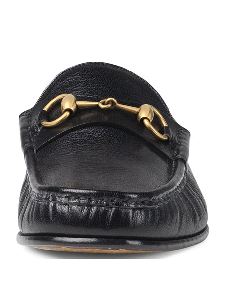 Gucci Horsebit Leather Slipper