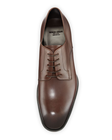 Image 2 of 3: Giorgio Armani Men's Calf Leather Derby Shoes