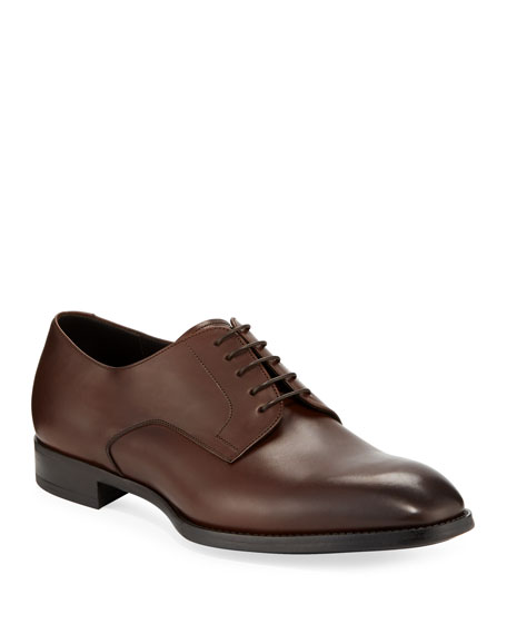 Image 1 of 3: Giorgio Armani Men's Calf Leather Derby Shoes