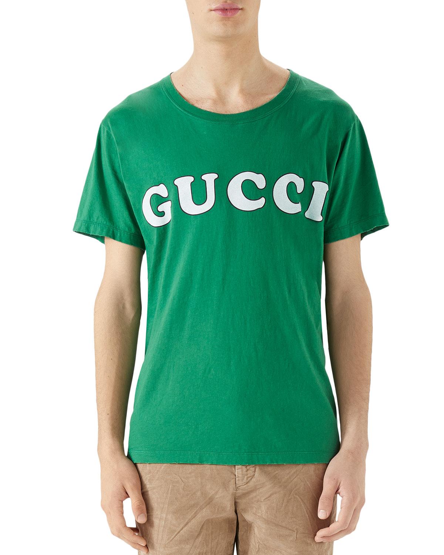 3e8691190 Gucci Men's Box Letter-Logo T-Shirt   Neiman Marcus