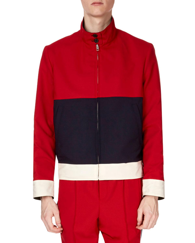 525593a436 Kenzo Men's Reversible Stand-Collar Colorblock Harrington Jacket ...
