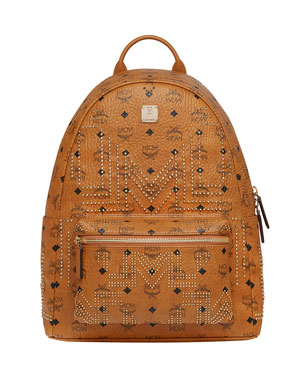 b1033d8fb8413 MCM Men's Stark Gunta Medium Studded Backpack