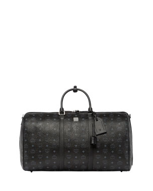 6b0a9df537 MCM Men's Traveler Visetos XL Weekender Duffel Bag
