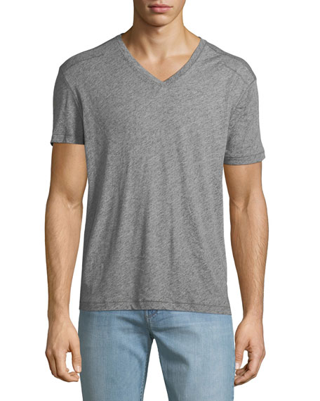 John Varvatos Star USA Men's V-Neck Heathered T-Shirt