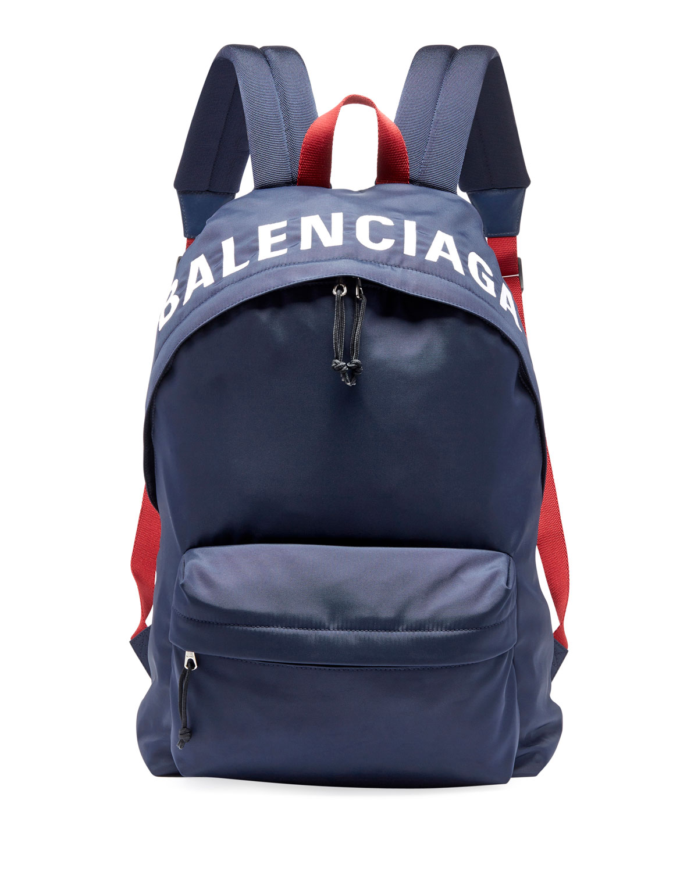 391af19603de Balenciaga Men s Wheel Logo-Print Backpack
