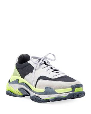 19110778452d9 Balenciaga Men's Triple S Tricolor Sneakers