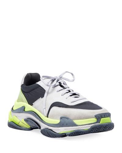 Men's Triple S Tricolor Sneakers