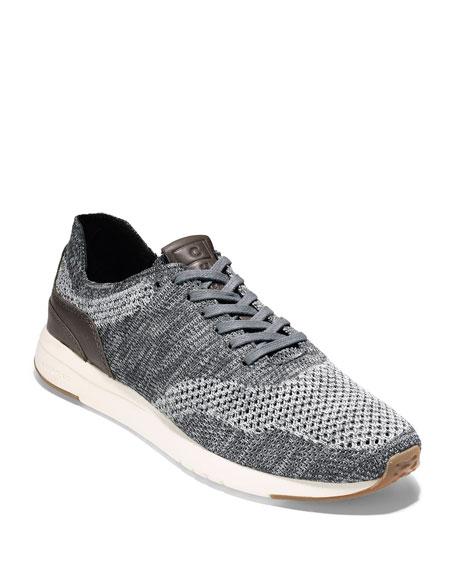 Men's GrandPro Knit Runner Sneakers, Gray