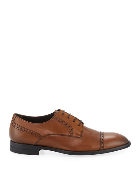 Ermenegildo Zegna Men's New Flex Cap-Toe Derby Shoes