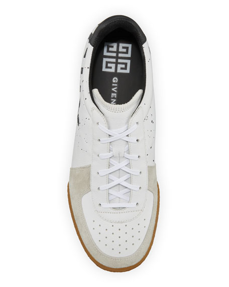 Men's Set 3 Logo-Print Leather Tennis Sneakers