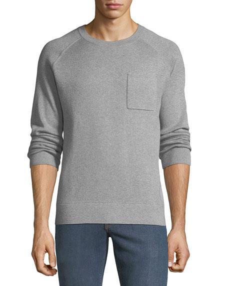 Neiman Marcus Men's Crewneck Raglan Pocket Organic Cotton