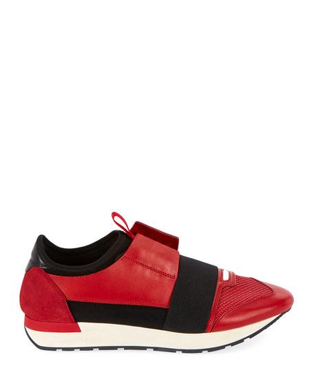 Men's Race Stretch-Sock Sneakers