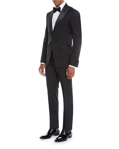 Z Zegna Men's Satin-Lapel Tuxedo Suit