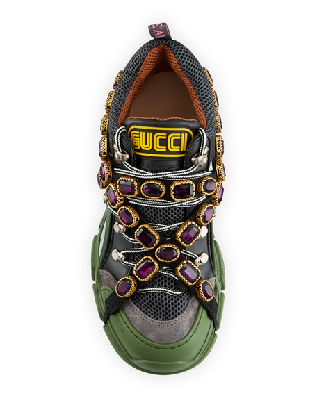 Gucci Men's Sneaker with Removable Crystals