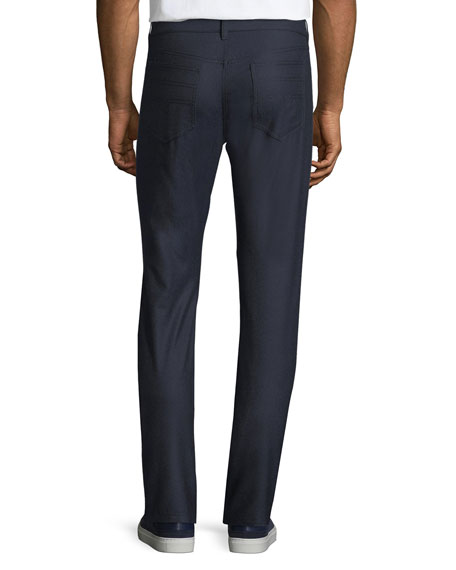 Men's Straight-Leg Wool Trousers