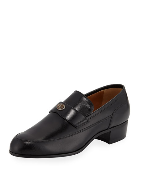 Gucci Men's High Loomis Leather Loafers