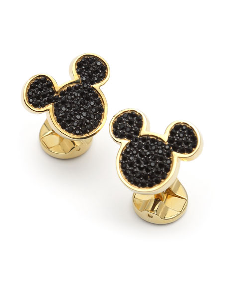 Image 1 of 3: Cufflinks Inc. 90th Anniversary Mickey Mouse Disney Cuff Links