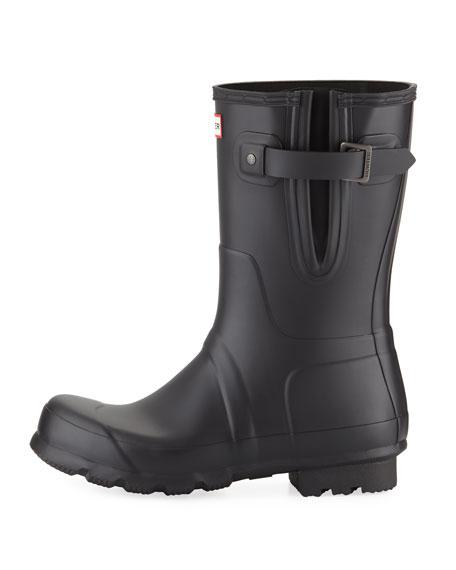 Hunter Boot Men's Original Side-Adjustable Short Boot, Black