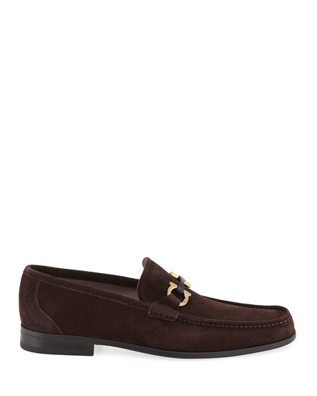 Salvatore Ferragamo Men's Grandioso Suede Loafers
