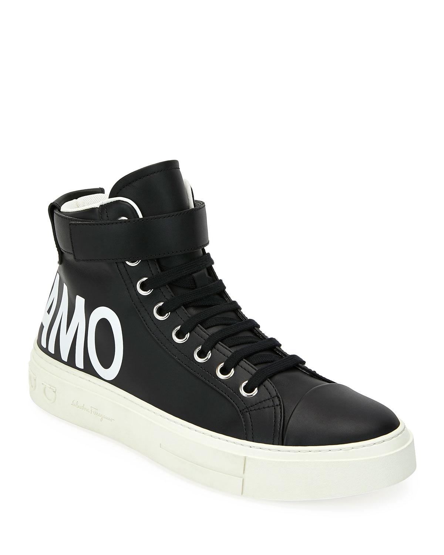 Ayr 2 Ankle Top Grip Strap W Leather Sneakers Men's High OPuTwXZki