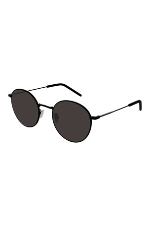 Saint Laurent Men's Slim Metal Rectangle Sunglasses