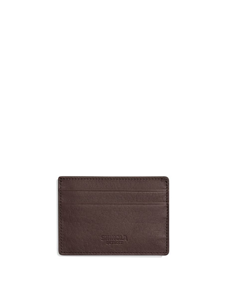 Shinola Cases Men's Leather Card Case w/ ID Window
