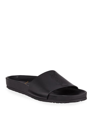e6d7560b2b0d Saint Laurent Men s Jimmy 20 YSL Slide Sandals. Favorite. Quick Look