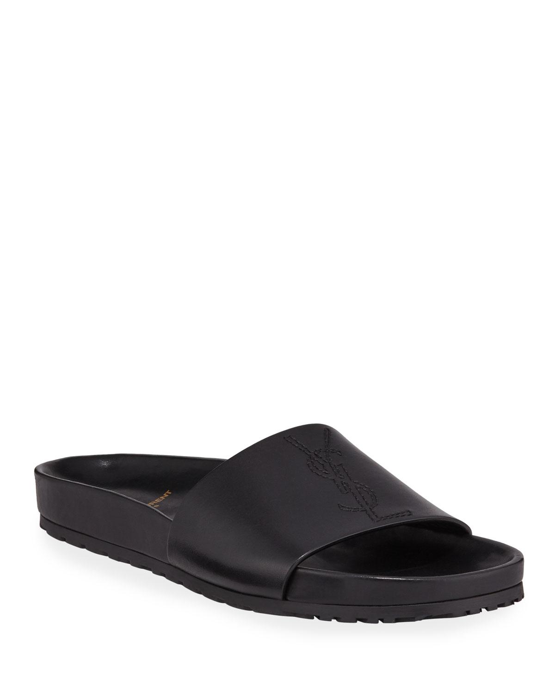 07bce1c15412 Saint Laurent Men s Jimmy 20 YSL Slide Sandals