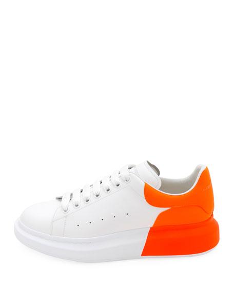 Alexander McQueen Men's Oversized Colorblock Leather Low-Top Sneakers