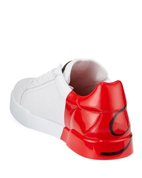 Dolce & Gabbana Men's Signature Portofino Logo Sneakers