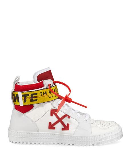 Off-White Men's Industrial Belt-Strap High-Top Sneakers