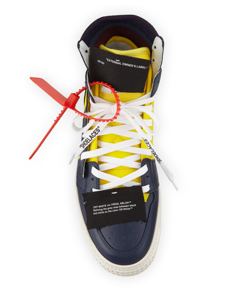 Off-White Men's 3.0 Exclusive Leather High-Top Sneakers