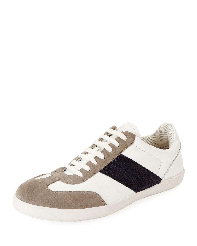 0ab3a0200f5 Giorgio Armani Men's Tricolor Low-Top Sneakers | Neiman Marcus