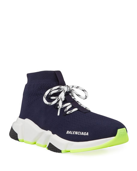 Balenciaga Men's Lace-Up Speed Sneakers