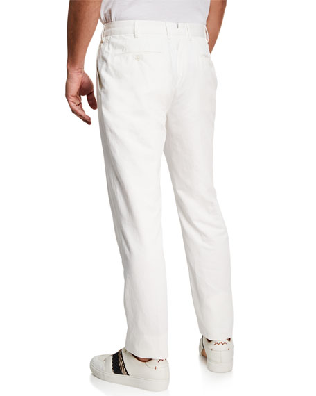 Ermenegildo Zegna Men's Casual Cotton/Linen Trousers