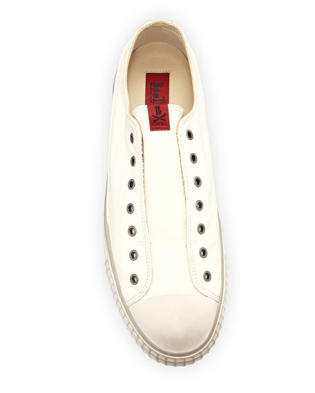 Image 3 of 4: John Varvatos Men's Laceless Leather Low-Top Sneakers