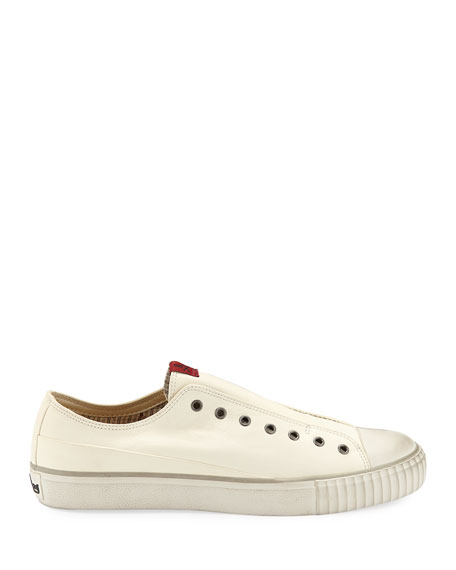 Image 4 of 4: John Varvatos Men's Laceless Leather Low-Top Sneakers