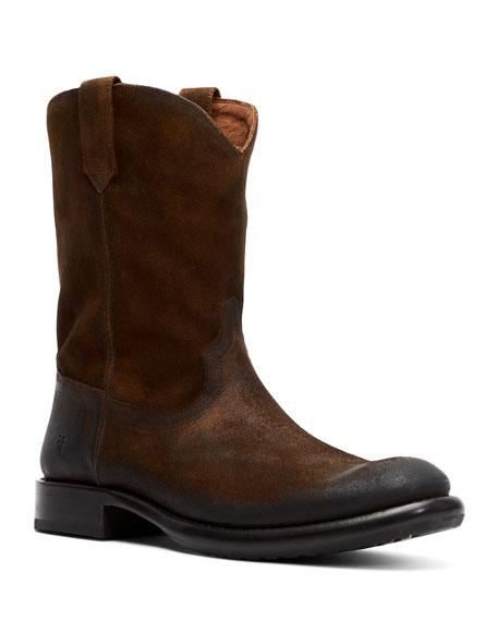 Frye Boots Men's Duke Roper Western Suede Boots