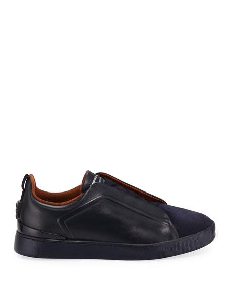 Ermenegildo Zegna Men's Triple-Stitch Slip-On Low-Top Sneakers