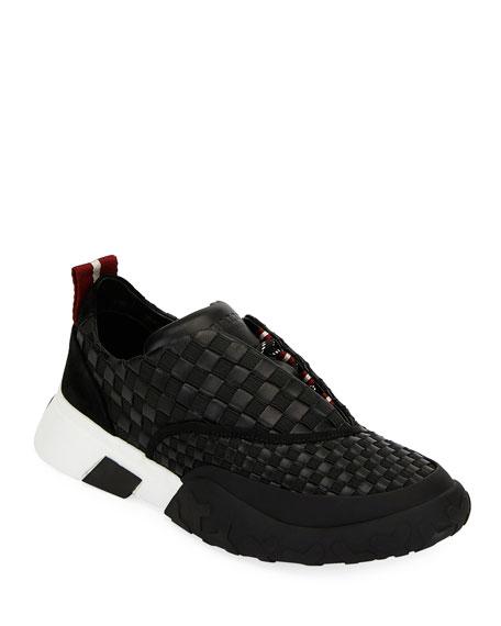 Bally Men's Geck Checkerboard Runner Sneakers