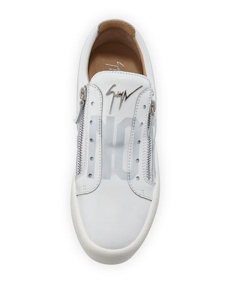 Giuseppe Zanotti Men's Print Logo Double Zip Sneakers