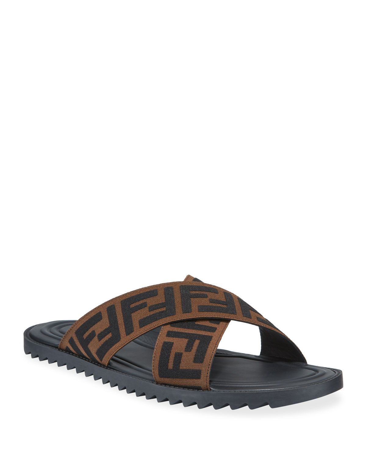 ad9adf87e667 Fendi Men s FF Band Slide Sandals