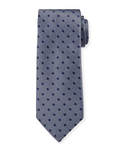 Men's Silk Parquet With Dots Tie