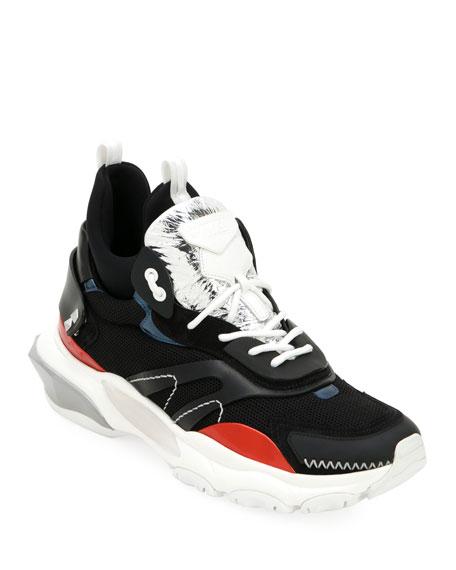Valentino Garavani Men's Bounce Mid-Top Lace-Up Sneakers